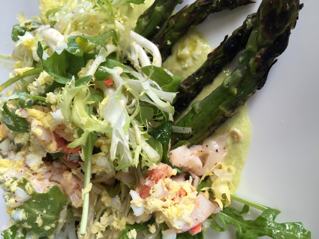 asparagus lobster salad
