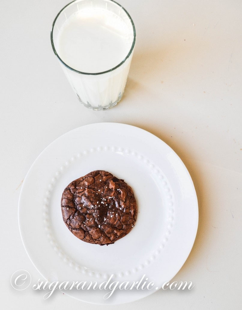 brownie cookie and milk