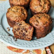 chocolate and date banana muffin