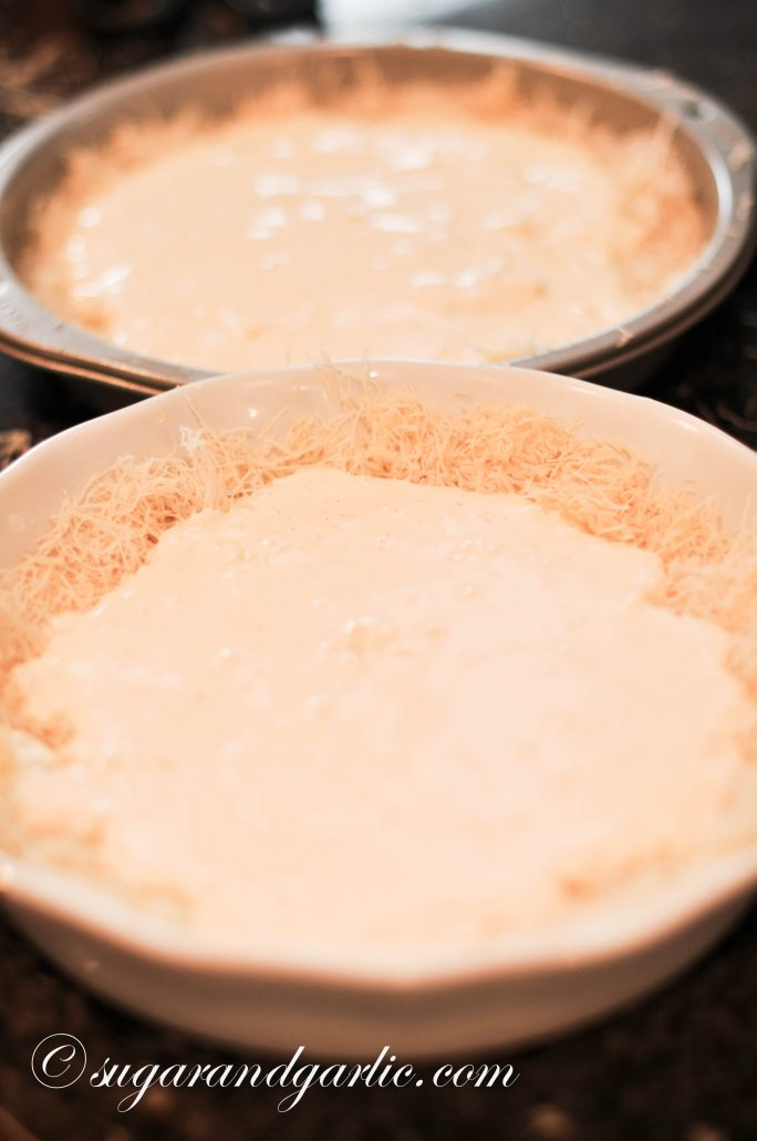 kunafa in pan