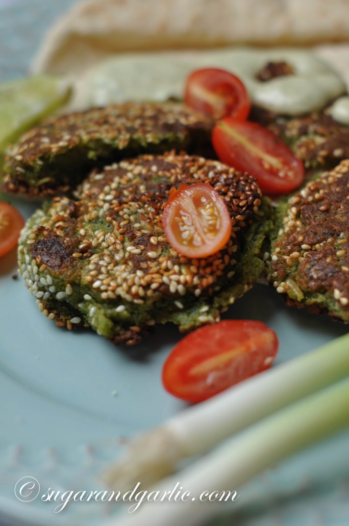 falafel with greens