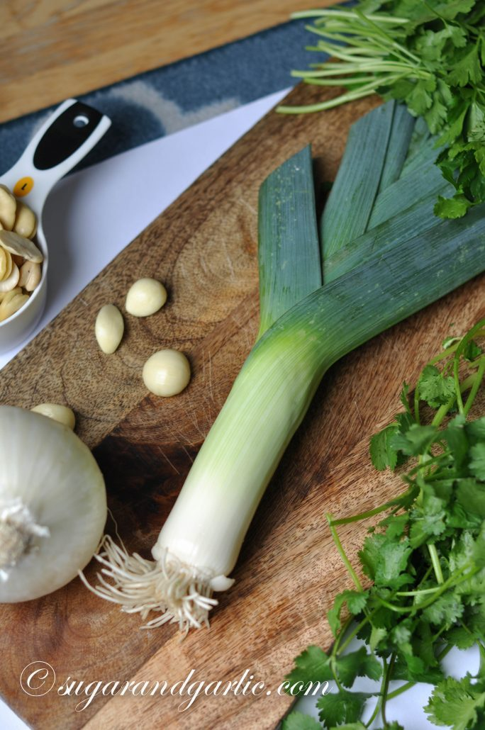 leek and garlic